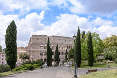 Roman ColiseumThe old Colosseum in Rome, the gladiators fight.  Royalty Free Stock Image