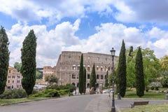Roman ColiseumThe vieux Colosseum à Rome, les gladiateurs combattent Photo stock