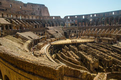 Roman Colliseum interior with arena floor platform Royalty Free Stock Image