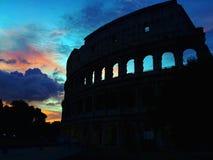 Roman Colloseum in Rome, Italy in the evening.  stock image