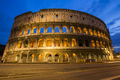 The Roman Coloseum at night. Stock Images