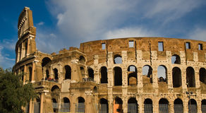 Roman Colosseum. The Roman Colosseum in Rome, Italy Royalty Free Stock Photos