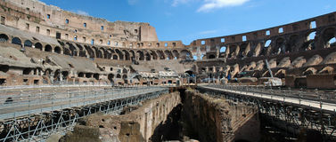 Roman Colosseum Panorama - Arena - Landmark Royalty Free Stock Photo