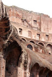 Roman Colosseum. Detail of the ruins of the Roman Colosseum royalty free stock photography