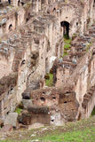 Roman Colosseum. Detail of the ruins of the Roman Colosseum royalty free stock images