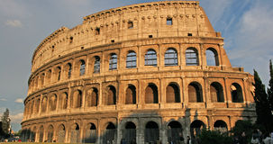 Roman Colosseum. Italian landmark at sun set royalty free stock photos