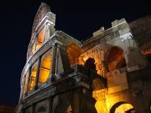 Roman Colosseum bij nacht Stock Afbeelding
