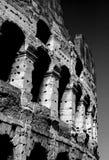 Roman Colosseum Black och vit Arkivbild