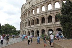 Roman Colosseum in cloudy weather Royalty Free Stock Image