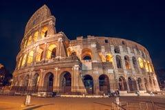 Roman Colosseum Coliseum na noite, um do attr principal do curso Fotografia de Stock