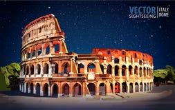 roman colosseum Europa italy rome Resor vektor illustrationer