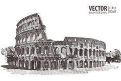 roman colosseum Europa italy rome Resor Arkitektur och l stock illustrationer