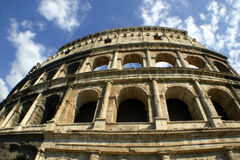Roman Colosseum facade Royalty Free Stock Photography