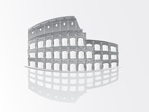 Roman colosseum illustration Stock Photography