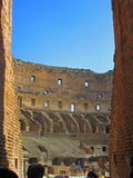 Roman Colosseum Interior 3. The Coliseum or Coliseum, also known as the Flavian Amphitheatre is an elliptical amphitheater in the center of the city of Rome Stock Image