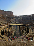 Roman Colosseum Interior 4. The Coliseum or Coliseum, also known as the Flavian Amphitheatre is an elliptical amphitheater in the center of the city of Rome Royalty Free Stock Photography