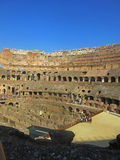 Roman Colosseum Interior. The Coliseum or Coliseum, also known as the Flavian Amphitheatre is an elliptical amphitheater in the center of the city of Rome, Italy Royalty Free Stock Photo