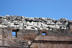 Roman Colosseum interior wall Royalty Free Stock Photography