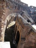 Roman Colosseum Italy Europe amphitheater from the time of the Roman Empire Stock Photo