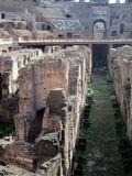 Roman Colosseum Italy Europe amphitheater from the time of the Roman Empire Stock Image