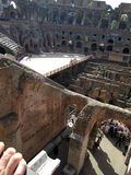 Roman Colosseum Italy Europe amphitheater from the time of the Roman Empire Royalty Free Stock Photos