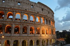 Roman Colosseum, the most impressive monument in Rome, Italy royalty free stock photography