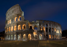 Roman Colosseum At Night Royalty Free Stock Images