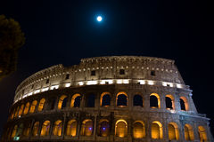 Roman Colosseum at night Stock Images