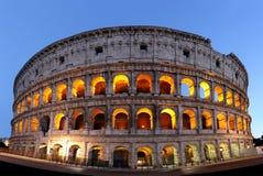 Roman Colosseum at night Stock Photo