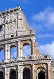 Roman Colosseum, particularly. Restored Coliseum, detail of the main facade Royalty Free Stock Photography