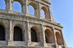 The Roman Colosseum, a place where gladiators fought as well as being a venue for public entertainment, Rome. Italy royalty free stock photo