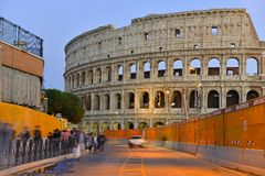 The Roman Colosseum, a place where gladiators fought as well as being a venue for public entertainment, Rome. Italy stock image