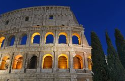 The Roman Colosseum, a place where gladiators fought as well as being a venue for public entertainment, Rome. Italy royalty free stock images
