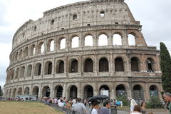 Roman Colosseum in rainy weather Royalty Free Stock Image