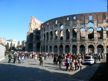 The Roman Colosseum royalty free stock photo