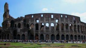 The Roman Colosseum in Rome, Italy stock photo
