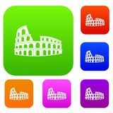Roman Colosseum set collection. Roman Colosseum set icon in different colors isolated vector illustration. Premium collection Royalty Free Stock Photo