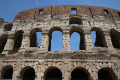 Roman Colosseum Sky Backdrop stock photography