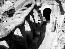 Roman Colosseum Structure. Structure of the Ancient Colosseum in Rome, Italy Stock Photography