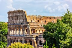 Close Coliseum view royalty free stock photography
