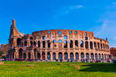 The Roman Colosseum on a sunny day Stock Photo