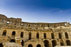 Roman Colosseum in Tunesië Royalty-vrije Stock Foto