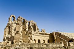 Roman Colosseum in Tunesië Royalty-vrije Stock Afbeeldingen