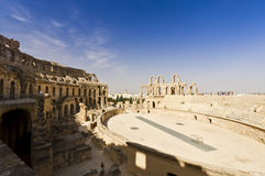 Roman Colosseum in Tunesië Stock Fotografie