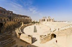 Roman Colosseum in Tunesië Stock Afbeeldingen