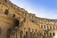 Roman Colosseum in Tunisia Royalty Free Stock Photos