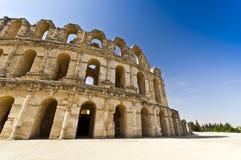 Roman Colosseum in Tunisia. Ruins Stock Images