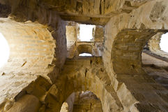 Roman Colosseum in Tunisia. Ruins Royalty Free Stock Images