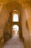 Roman Colosseum in Tunisia. Ruins Stock Photo