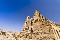 Roman Colosseum in Tunisia. Ruins Royalty Free Stock Image